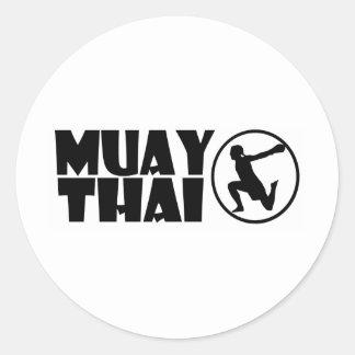 Thai Muay Classic Round Sticker