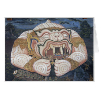 Thai Ogre Wall Painting Card
