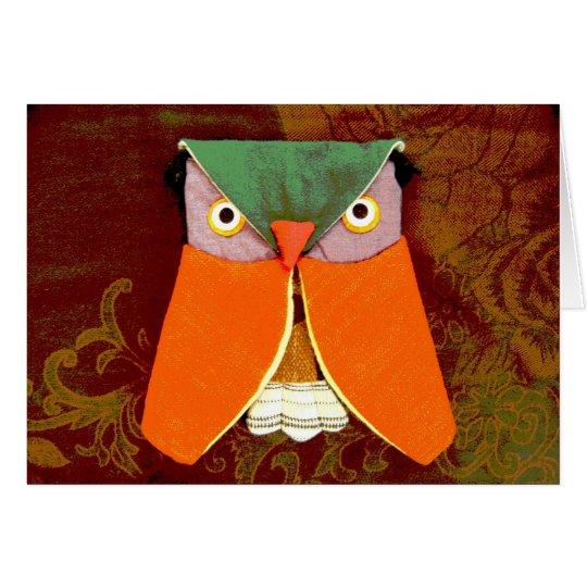 Thai Owl Handicraft Card