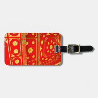 Thai Pavillion Ceiling Luggage Tag