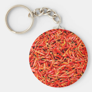 Thai peppers basic round button keychain
