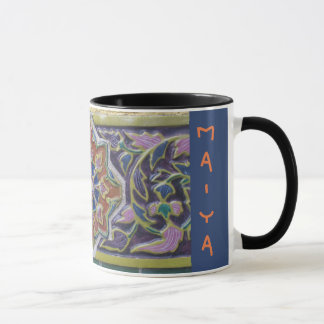 Thai Rose Tile Mug