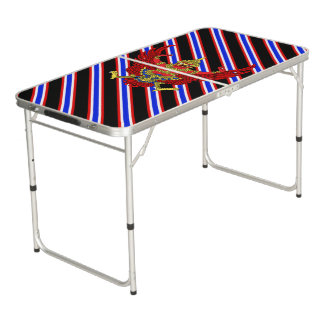 Thai stripes flag beer pong table