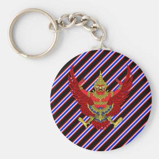 Thai stripes flag keychain