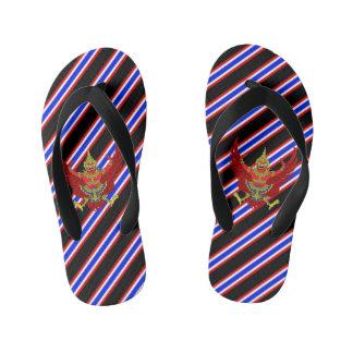Thai stripes flag kid's flip flops