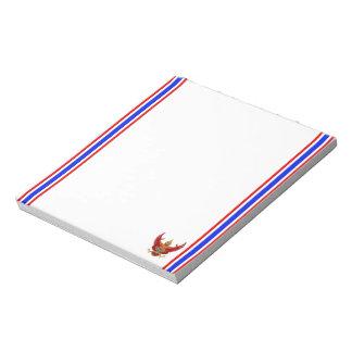 Thai stripes flag notepad