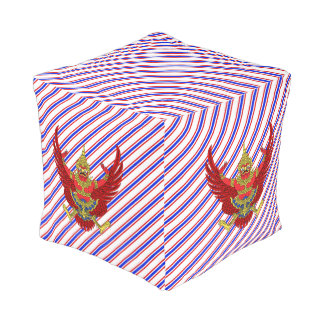 Thai stripes flag pouf