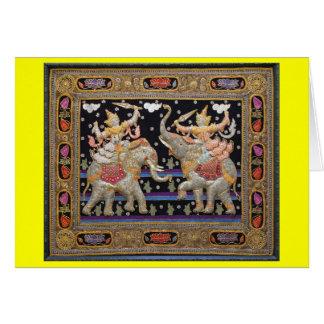 Thai Tapestry - Blank Greeting Card