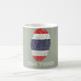 Thai touch fingerprint flag coffee mug