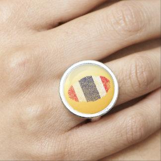 Thai touch fingerprint flag photo rings