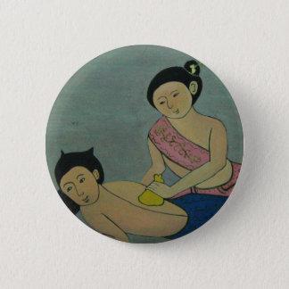 Thai Traditional Massage 2 Inch Round Button