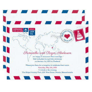 Thailand Air Mail Save the Date Card