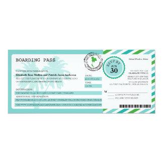Thailand Airmail Boarding Pass Wedding Card