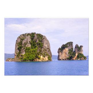 Thailand, Andaman Sea. Ao Phang Nga Islands in 2 Photographic Print