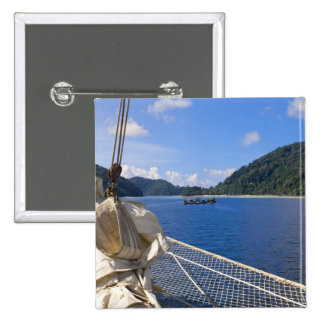 Thailand, Andaman Sea. Star Fyer clipper ship 2 Inch Square Button