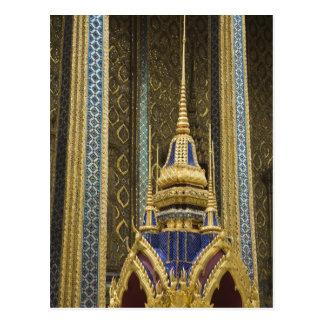 Thailand, Bangkok. Details of ornately decorated Postcard