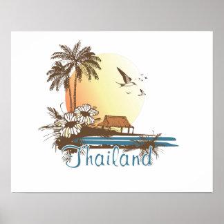 Thailand Beach Hut Poster