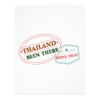 Thailand Been There Done That Letterhead