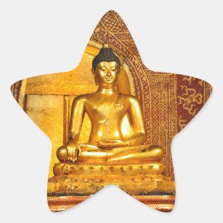 thailand buddha star sticker