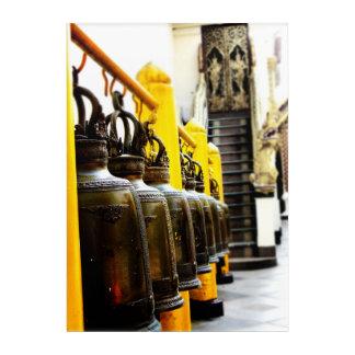 Thailand Buddhist Temple Bells Travel Acrylic Pane Acrylic Wall Art