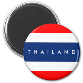 Thailand country flag nation symbol name text magnet