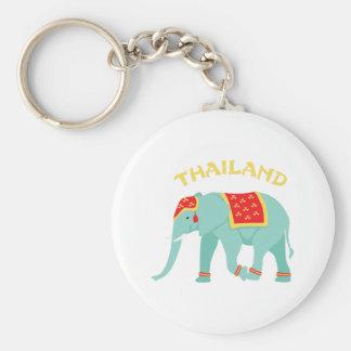 Thailand Elephant Keychain