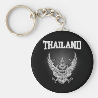 Thailand Emblem Basic Round Button Keychain