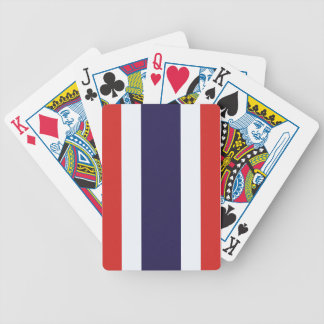 Thailand flag bicycle playing cards