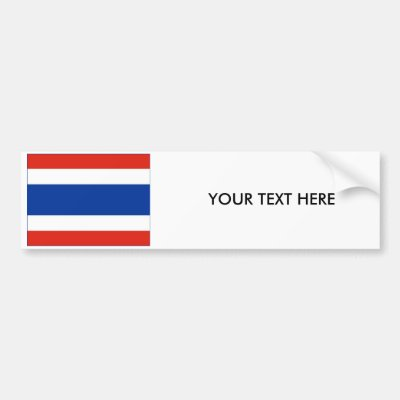 Thailand flag country thai text name bumper sticker zazzle ca