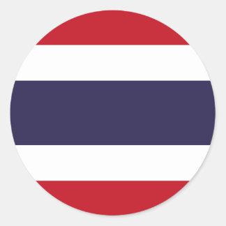 Thailand flag classic round sticker