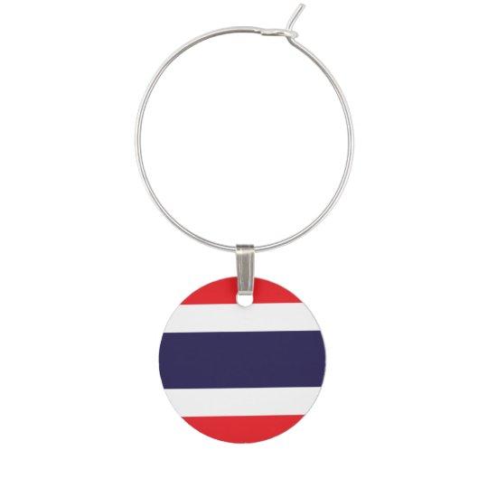 Thailand Flag Wine Charms