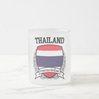 Thailand Frosted Glass Coffee Mug
