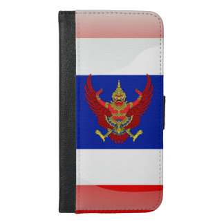 Thailand glossy flag iPhone 6/6s plus wallet case