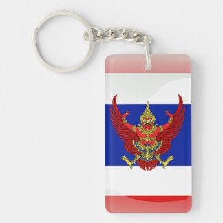 Thailand glossy flag keychain