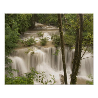 Thailand, Huai Mae Khamin Waterfall Poster
