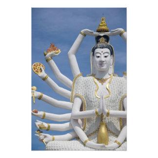 Thailand, Ko Samui aka Koh Samui). Wat Plai Photographic Print
