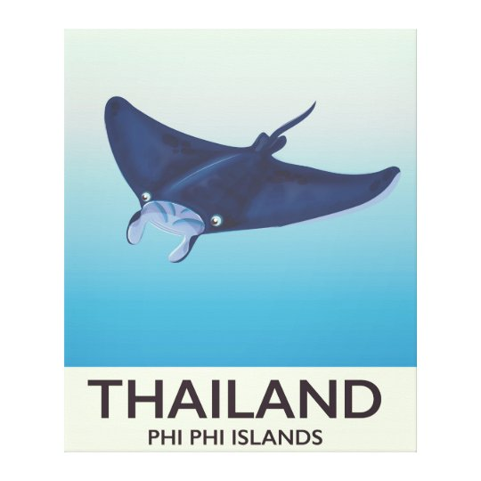 Thailand Phi Phi Islands Travel poster Canvas Print