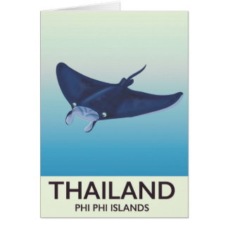 Thailand Phi Phi Islands Travel poster Card