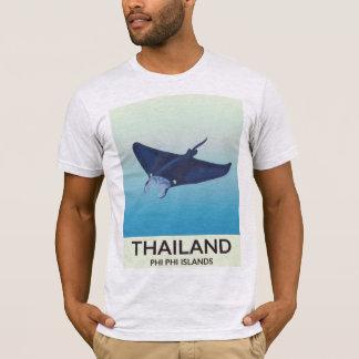 Thailand Phi Phi Islands Travel poster T-Shirt