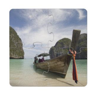 Thailand, Phi Phi Lay Island, Maya Bay. Puzzle Coaster