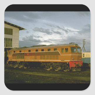 Thailand, RS Rys diesel_Trains of the World Square Sticker