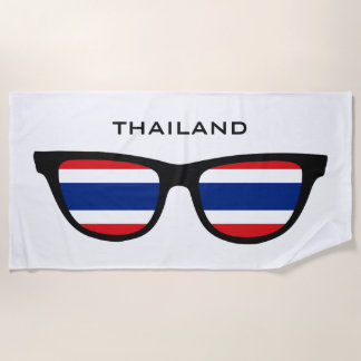 THAILAND Shades custom text beach towel
