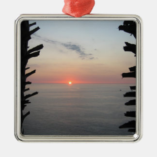 Thailand Sunset Nearing Dusk Metal Ornament