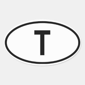 """Thailand """"T"""" Oval Sticker"""