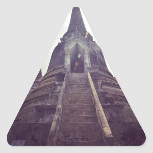Thailand temple triangle stickers