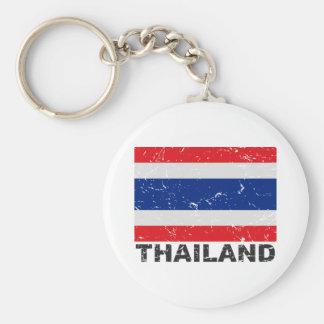 Thailand Vintage Flag Keychain