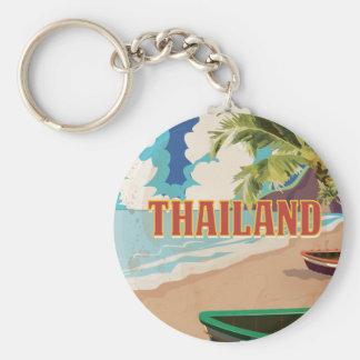 Thailand Vintage Travel Poster Keychain