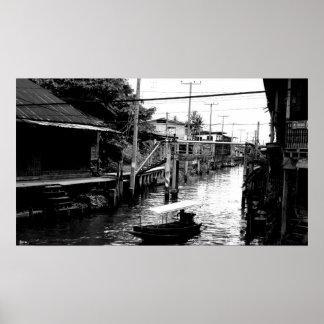 Thailand water way poster