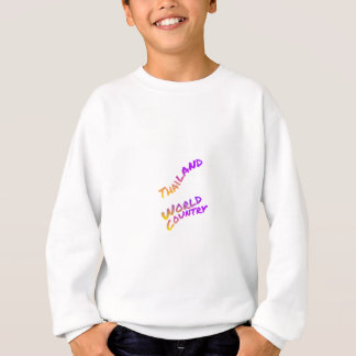Thailand world country, colorful text art sweatshirt