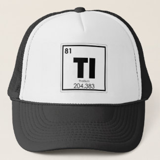 Thallium chemical element symbol chemistry formula trucker hat